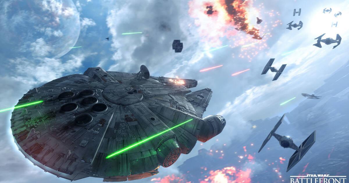 Así son las batallas aéreas de Star Wars: Battlefront