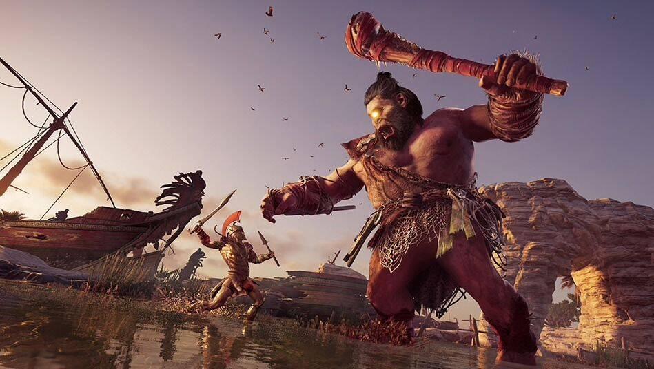 Assassin's Creed Odyssey recibe al cíclope como nuevo jefe mitológico