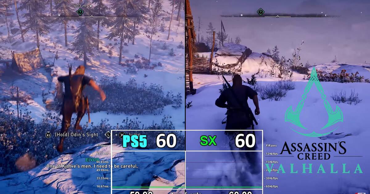 Así es Assassin's Creed Valhalla en PS5 vs Xbox Series X: resolución, cargas y más