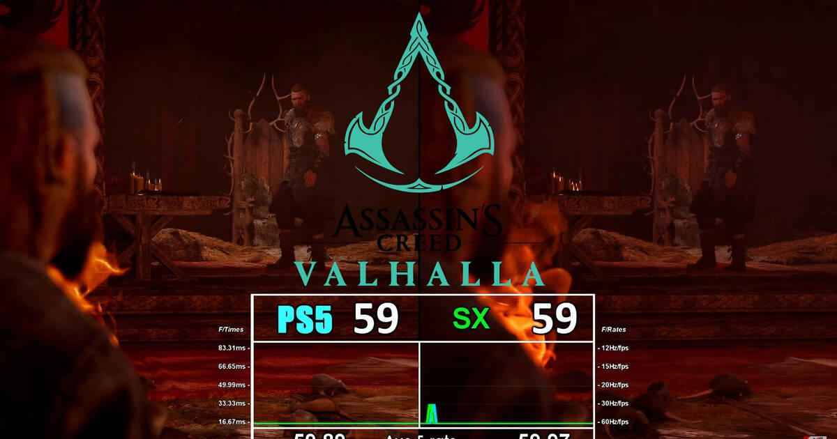 Comparan Assassin's Creed Valhalla en PS5 y Xbox Series X: resolución, cargas y más