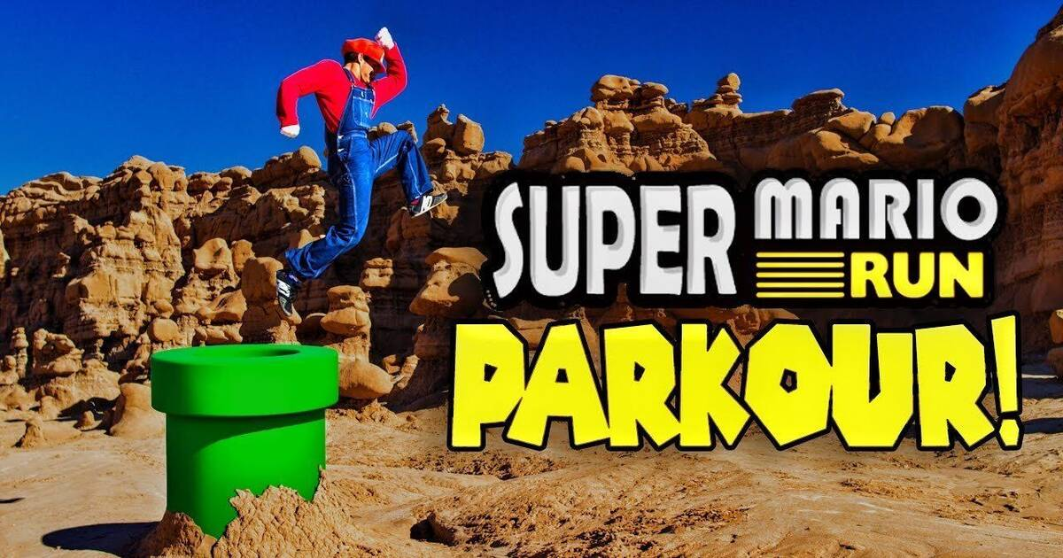 Realizan un vídeo de parkour en la vida real inspirado en Super Mario Run
