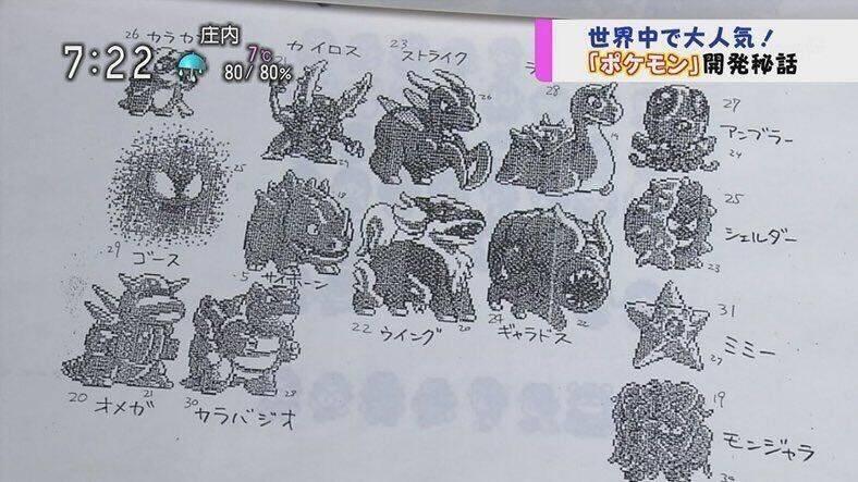Pokémon: se revelaron algunos de los diseños originales rechazados