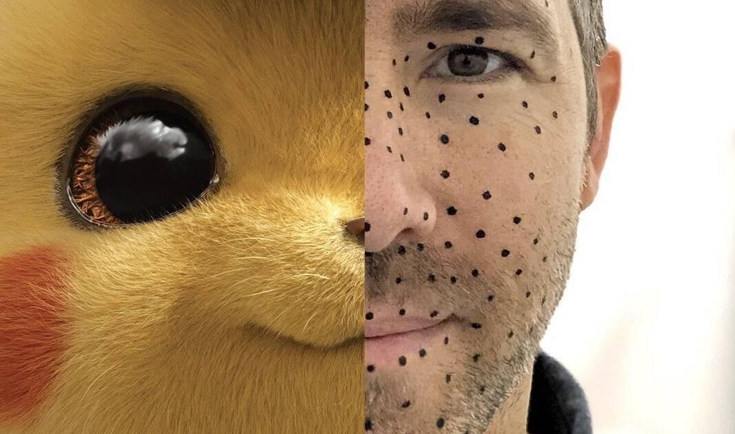 Ryan Reynolds publicó fotografía como 'Detective Pikachu' en redes — Instagram