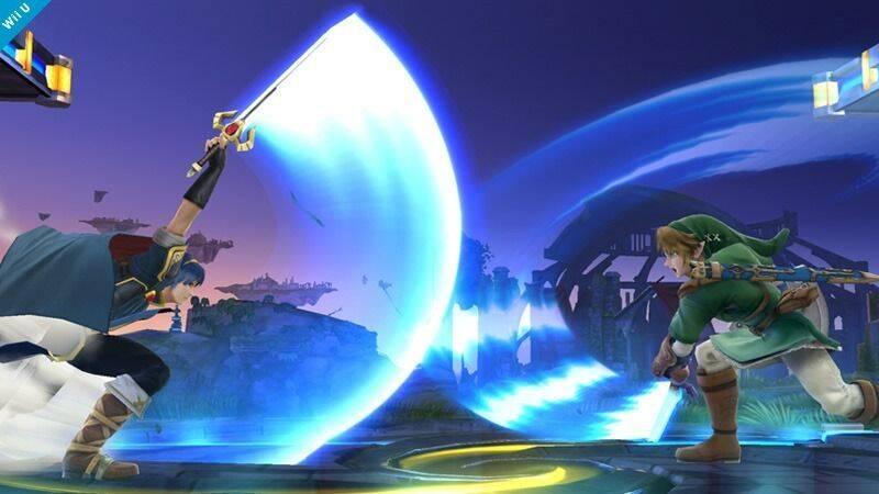 Link y Marth luchan en las nuevas imágenes de Super Smash Bros.