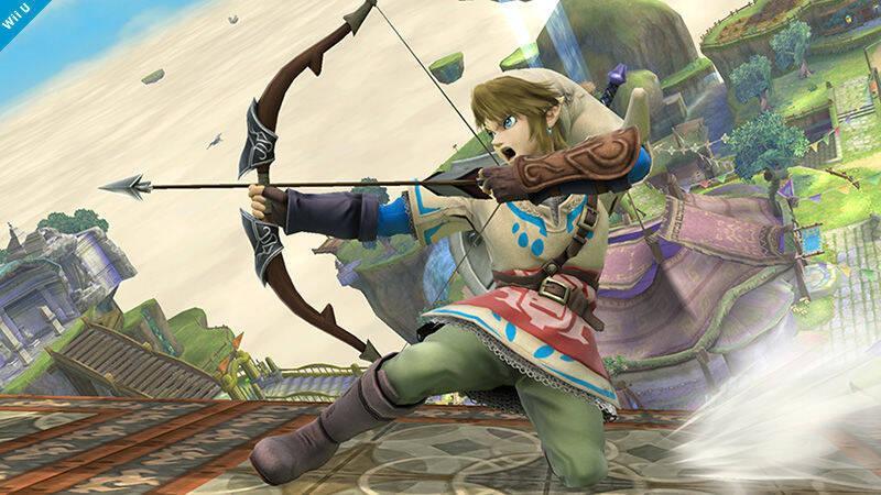Link muestra su traje alternativo para Super Smash Bros.