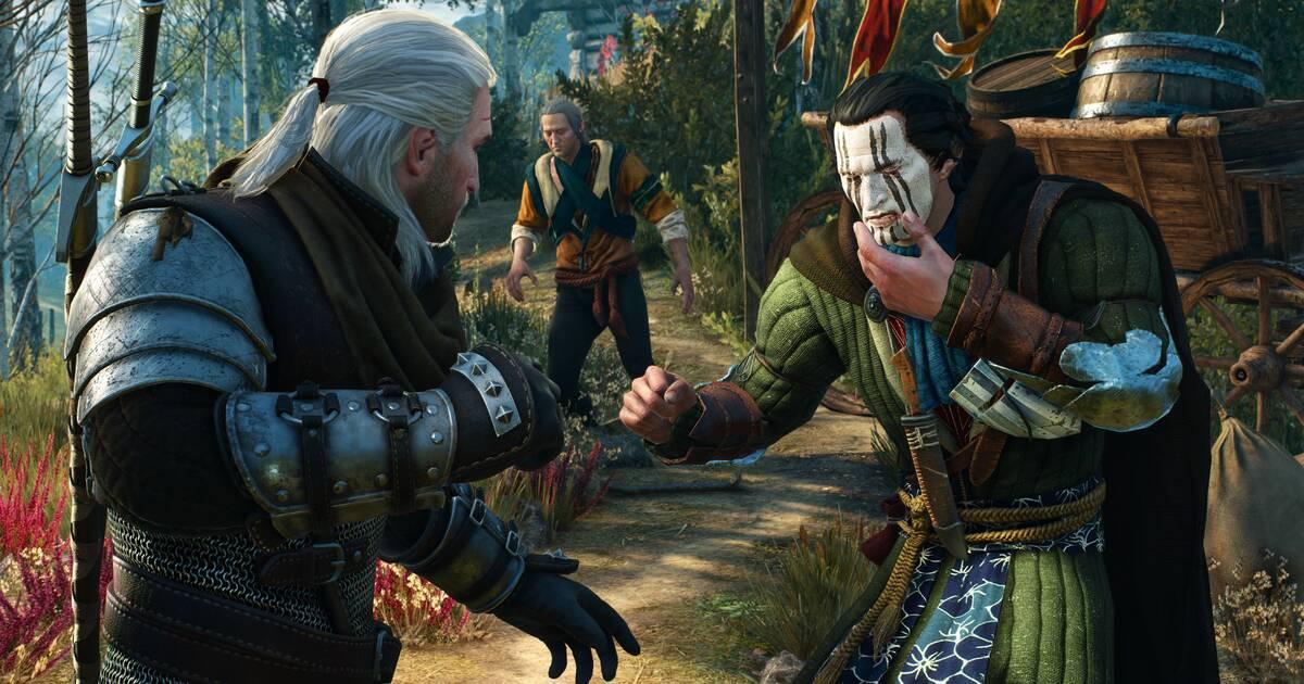 The Witcher 3: Wild Hunt - Geralt golpea a otro personaje