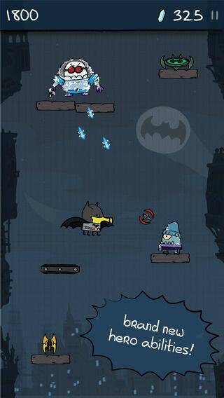 Los héroes de DC se convierten en un nuevo Doodle Jump