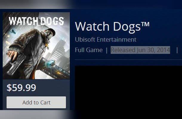 La fecha del 30 de junio aparece en la PS Store para Watch Dogs