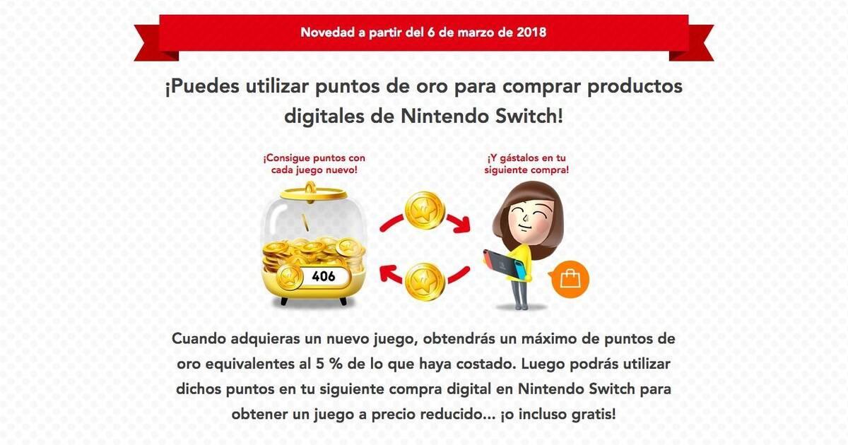Los Puntos De Oro My Nintendo Ya Dan Descuentos En La Eshop De