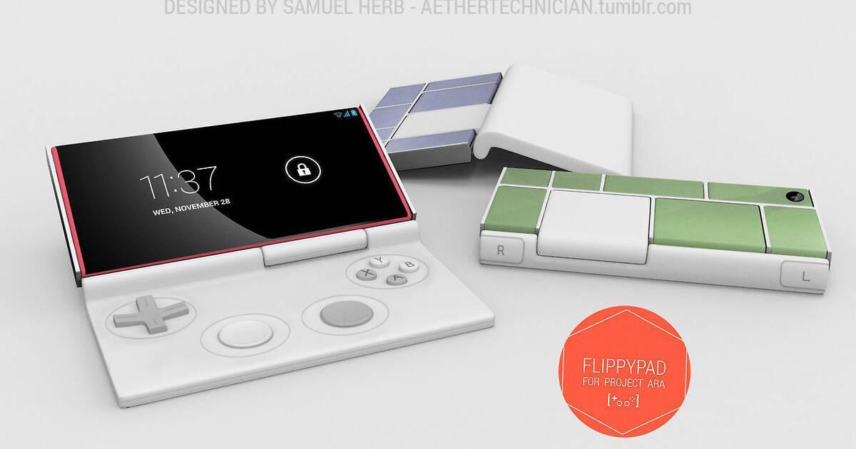 Imaginan Project Ara, el móvil modular de Google, como una consola portátil