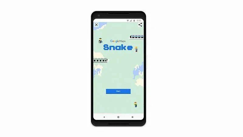Google Maps te deja jugar Snake el día de hoy