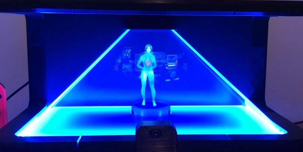 Crean un holograma real de Cortana de Windows