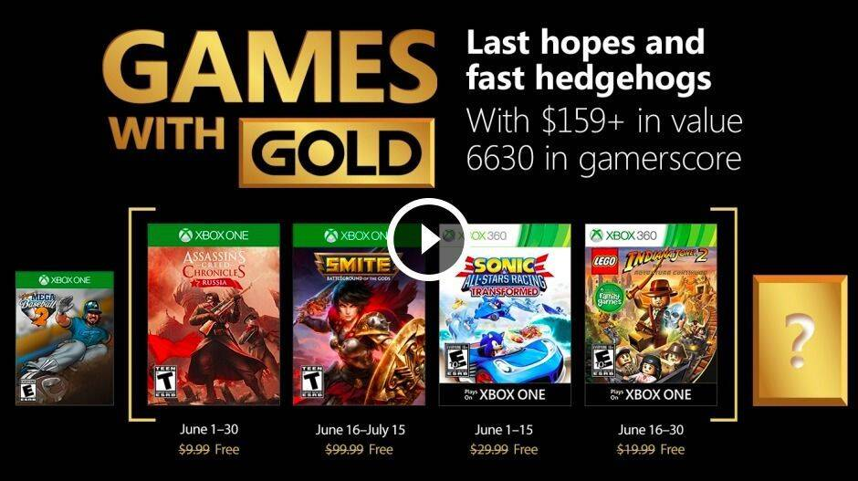 Revelados los Games With Gold de junio 2018