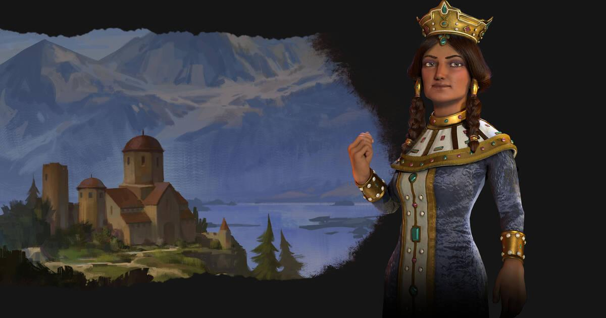 Tamara dirige Georgia en Civilization VI: Rise and Fall