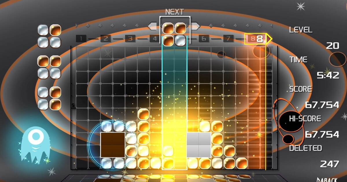Lumines Remastered se muestra en Nintendo Switch