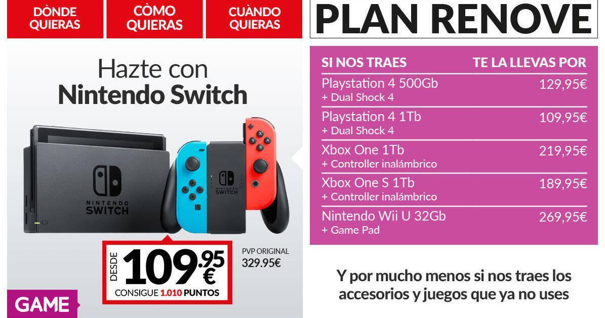 Game Anuncia Un Plan Renove Para Nintendo Switch Vandal