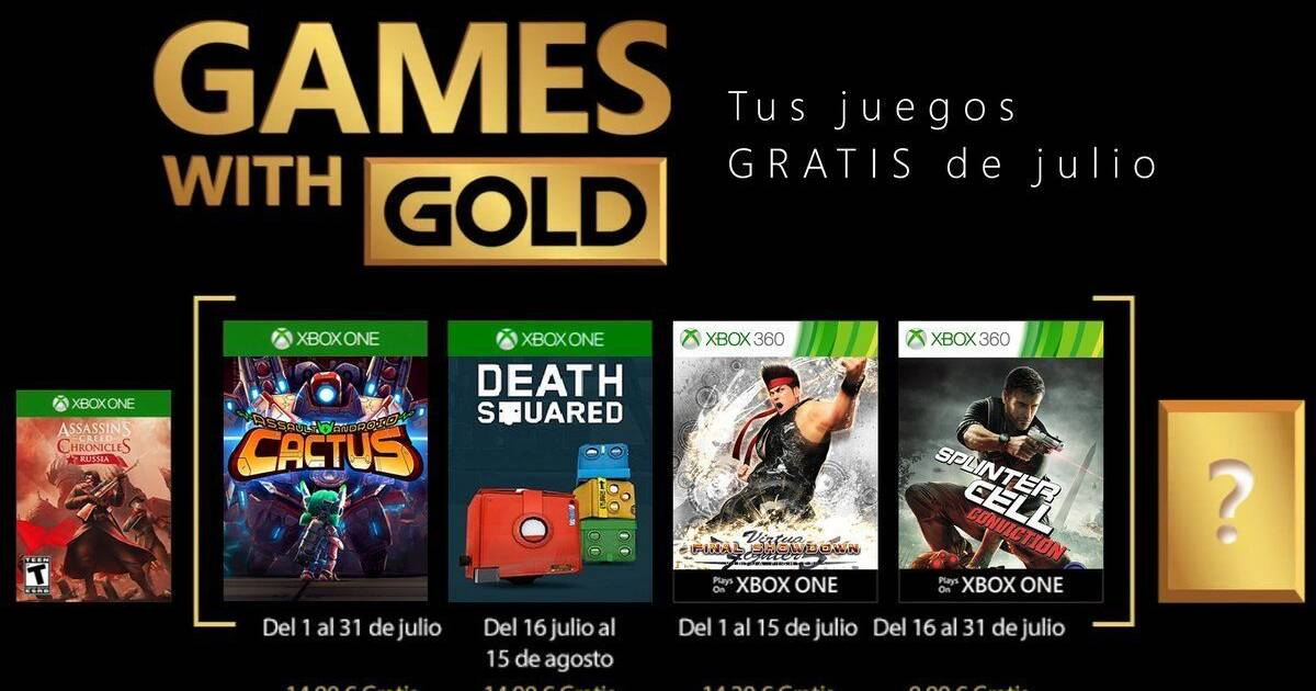 Anunciados los Games With Gold de Xbox para julio 2018