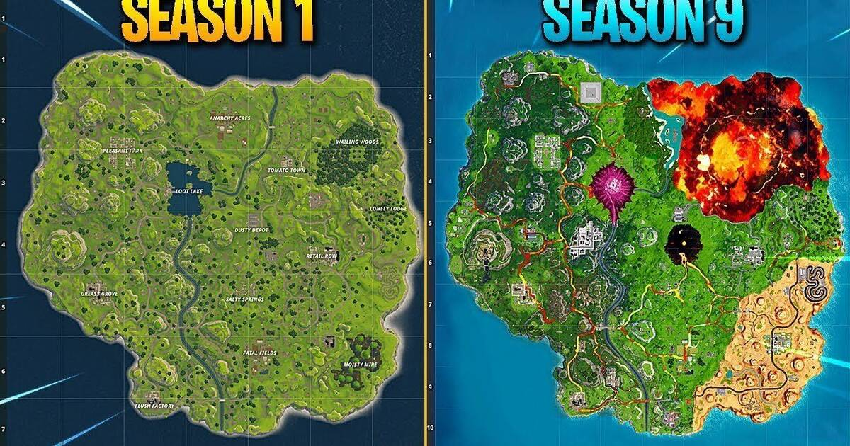 Mapa Fortnite Temporada 9.Asi Ha Evolucionado El Mapa De Fortnite En Sus 9 Temporadas