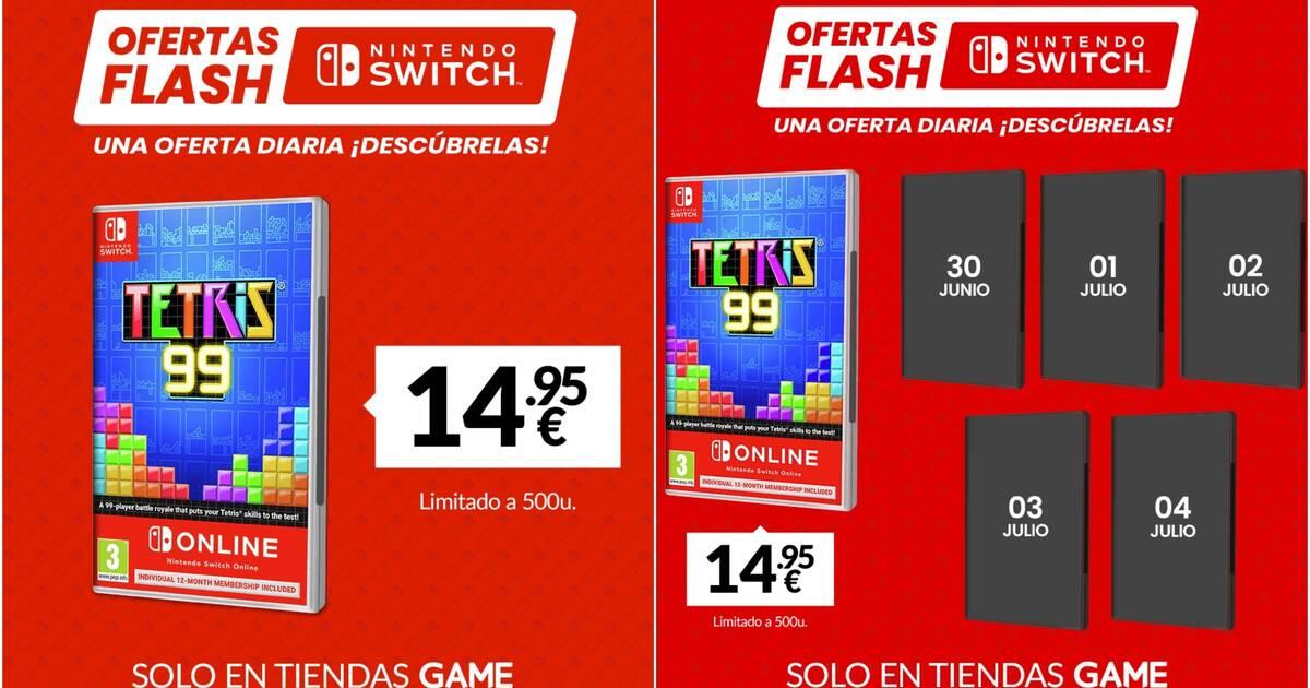 GAME presenta las ofertas Flash de esta semana para juegos de Nintendo Switch