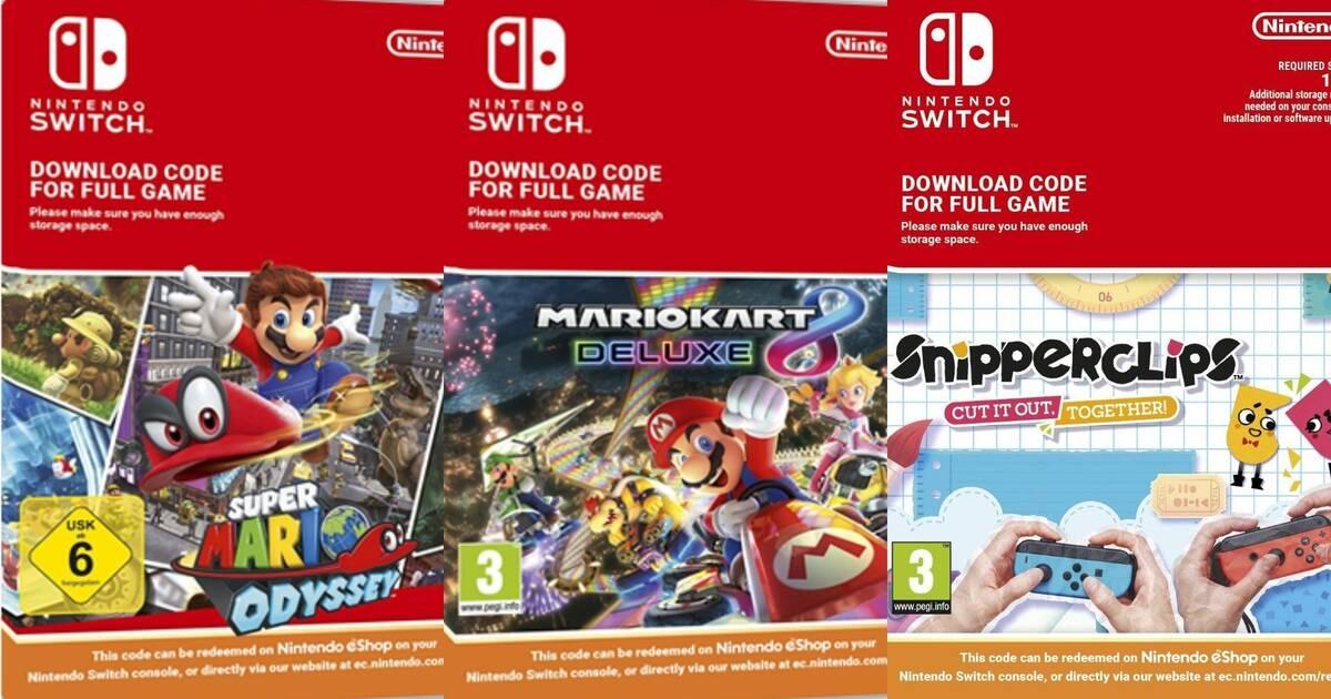 Nintendo dejará de vender códigos de sus juegos para Switch en tiendas europeas