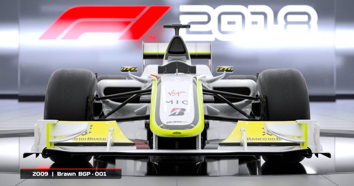 F1 2018 presenta su selección de monoplazas clásicos