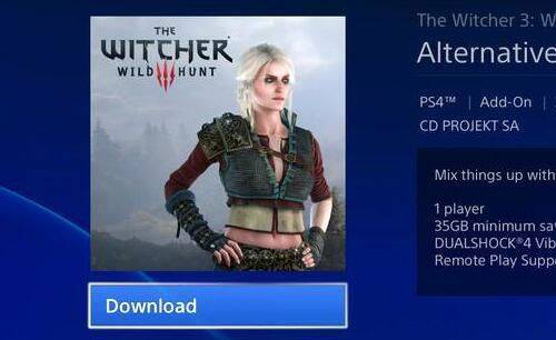 Un error en PlayStation Store desvela un traje descargable alternativo para Ciri en The Witcher 3