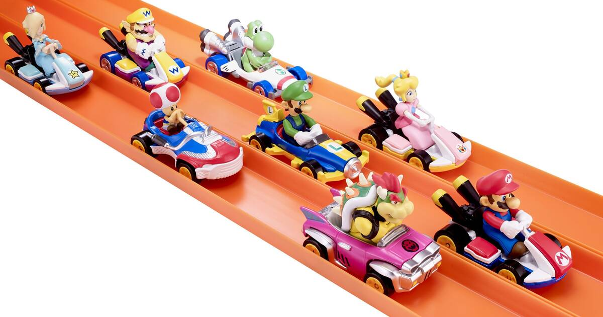 Hot Wheels lanzará juguetes de Mario Kart