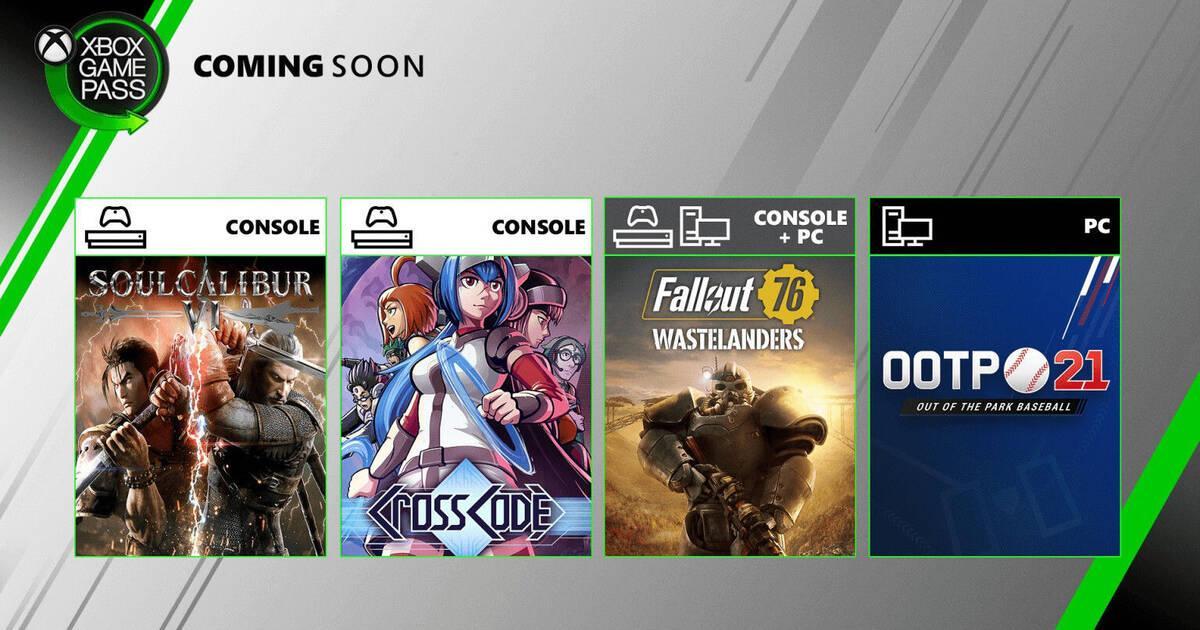 Xbox Game Pass añadirá en julio Fallout 76 en Xbox One y PC, SoulCalibur 6 y más