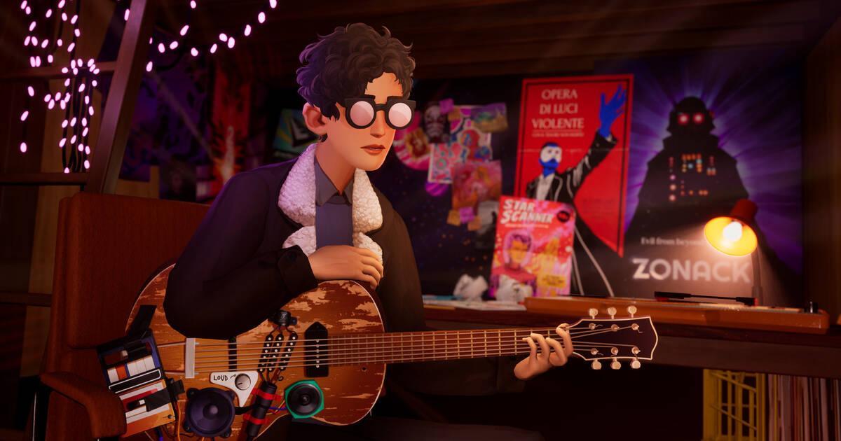 El musical y colorido The Artful Escape se muestra en un gameplay ...