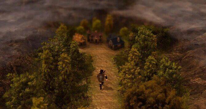 Into the Eternal se presenta como un sucesor espiritual de Zelda II: Link's Adventure
