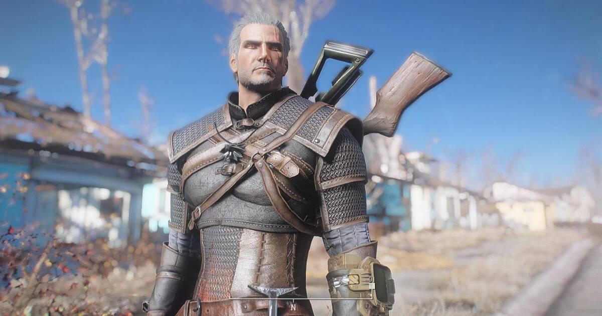 The Witcher es el protagonista de un nuevo mod para Fallout 4