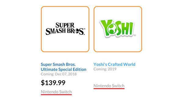 Nintendo adelanta por error el nombre de Yoshi para Switch