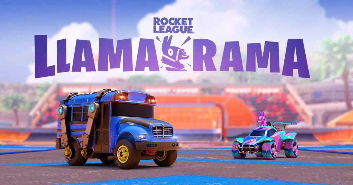 Evento Llama Rama en Rocket League