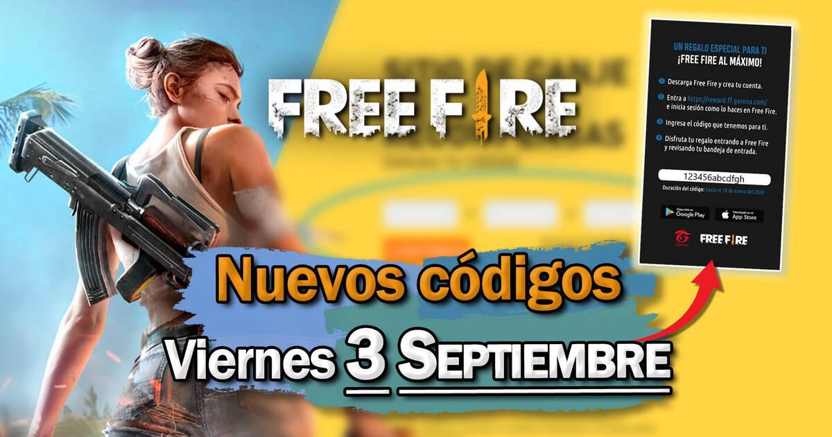 Free Fire: Códigos para hoy viernes 3 de septiembre de 2021 - Recompensas  gratis - Vandal