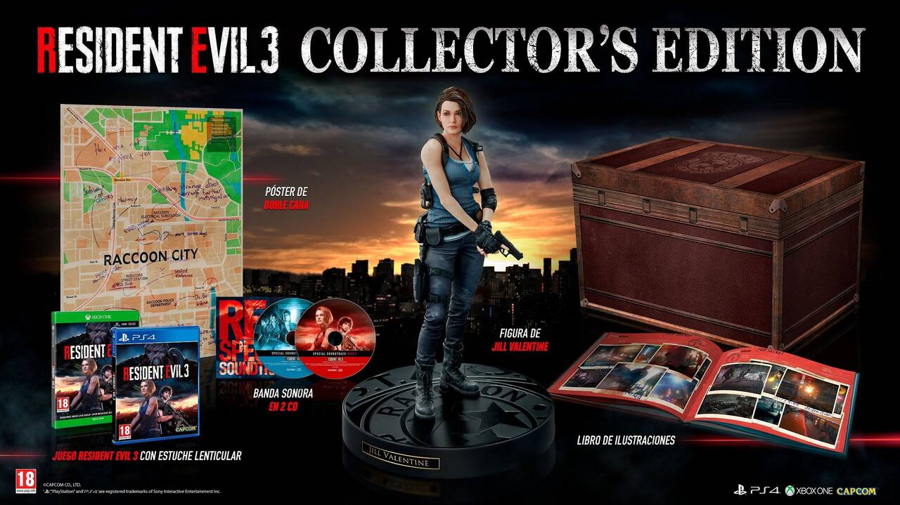 Resultado de imagen de resident evil 3 collector's edition