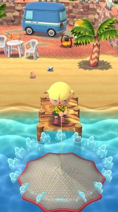 Cómo pescar en Animal Crossing Pocket Camp