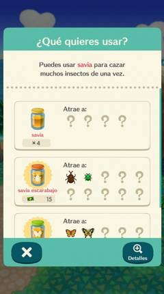 Cómo atrapar insectos en Animal Crossing Pocket Camp
