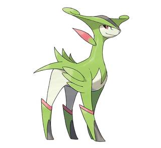 Virizion Pokémon Ultrasol y Ultraluna