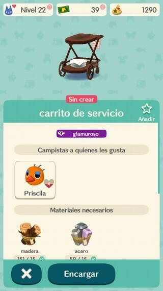 Objetos Animal Crossing Pocket Camp