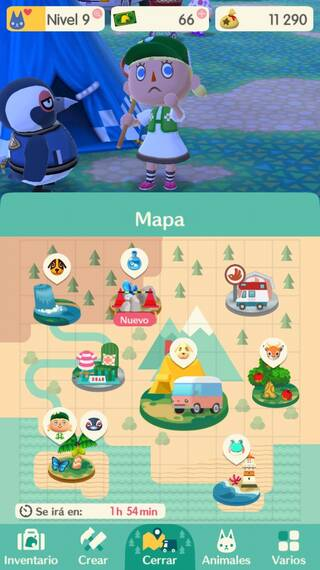 Mapa Animal Crossing Pocket Camp