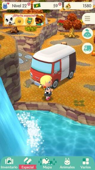 Mapa arroyo Animal Crossing Pocket Camp