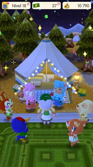 Tienda atrevida Animal Crossing Pocket Camp