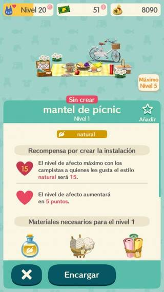Mantel de pícnic Animal Crossing Pocket Camp