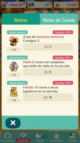 Reseteos en Animal Crossing Pocket Camp