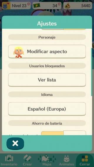 Idiomas Animal Crossing Pocket Camp
