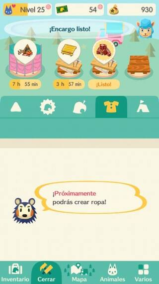 Fabricar Ropa en AC: Pocket Camp
