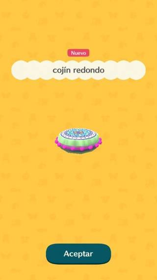 Cojín redondo Animal Crossing Pocket Camp