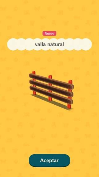Valla natural Animal Crossing Pocket Camp