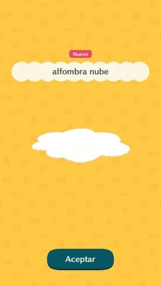 Alfombra nube Animal Crossing Pocket Camp