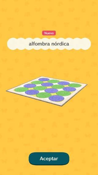 Alfombra nórdica Animal Crossing Pocket Camp